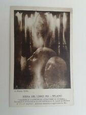 Cartolina Fiera del libro Milano Gabriele D'Annunzio Aviatore Aeronautica