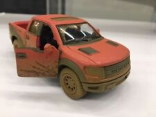 "Kinsmart 5"" Ford F-150 SVT Raptor SuperCrew Muddy Diecast Model Toy 1:46 Red"