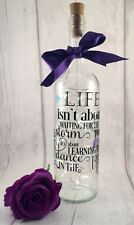 Personalised Light Up Wine Bottle with inspirational quote.