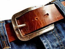 Fibbia Cintura Fibbia Buckle ALT ARGENTO MARTELLATA 4cm VINTAGE Celti