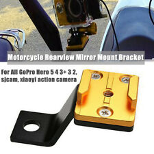 1X Aluminum Alloy Motorcycle Rearview Mirror Mount Holder Bracket For GoPro Hero