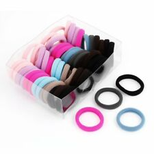 56 x Colorful Elastic Rubber Hair Bands Ponytail Holders for Ladies U8S7 T5Y4