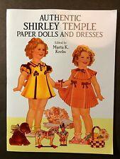 UNCUT Authentic Shirley Temple Paper Dolls Dresses Dress Up 1991 Dover Unused