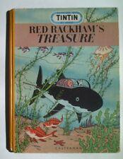 Tintin 1952 Casterman Red Rackham's Treasure Medallion First English Edition!