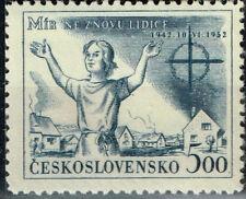 Czech WW2 Nazi 1942 destruction of Lidice stamp MNH