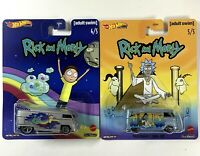 HOT WHEELS: 2020 POP CULTURE RICK MORTY (Lot of 2)  Volkswagen Drag Bus & Panel