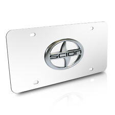 Scion 3D Logo Chrome Stainless Steel License Plate with Lifetime Warranty