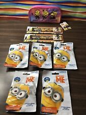 Despicable Me 3 Collections! 2 Pencils, 5 Blind Bag Erasers & 1 Pencil Case NEW