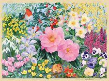 NEW! Ravensburger The Cottage Garden Winter 500 piece flowers jigsaw puzzle