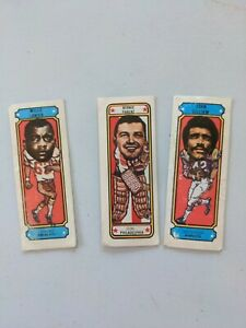 1975 Nabisco Sugar Daddy Football Cards - 3 different, Lanier, Parent, Gilliam