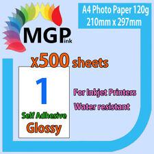 500x A4 White Glossy Self Adhesive Sticker Photo Paper Sheet Label Inkjet Print