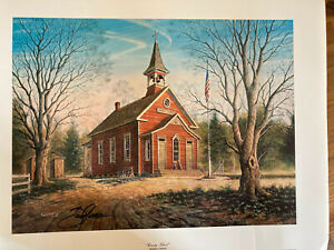 "Signed Randy Souders""Country School"" Art"