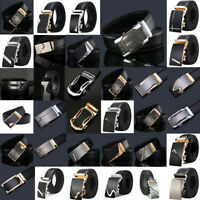Men's Luxury Leather Automatic Buckle Waistband Belts Waist Strap 110cm-140cm