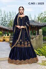India Bollywood Paquistaní Vestido de Fiesta Boda Eid Salwar Kameez Plazzo Suit
