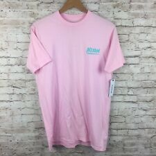 New Nixon Mens Medium Pink Teal Spell Out T-Shirt Tee