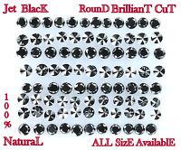 Natural loose Diamond AAA jet Black Round Brilliant Cut 0.50 Cts Q16