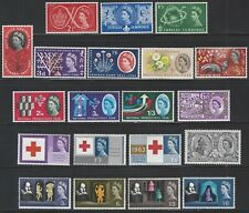 Great Britain, Mint NH Commems, 25 complete issues including phosphors, 1957-70