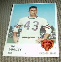 1961 Fleer Football Card # 4 JIM DOOLEY -Chicago Bears