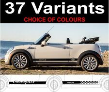 bmw mini convertible side stripe decals mini mini cooper