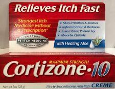 Cortizone 10 Healing  Aloe Anti-Itch Cream 28 gram 1 oz Fresh Exp 10/2020
