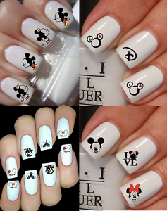 Mickey Mouse Minnie Stickers ongles autocollant manucure nail art water déco