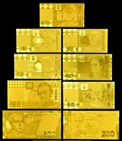 "★★ UKRAINE : COLLECTION DE 9 BILLETS POLYMER  "" OR "" ★ GDCOLUK.5.5"