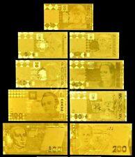 "★★ UKRAINE : COLLECTION DE 9 BILLETS POLYMER  "" OR "" ★ GDCOLUK.5.5"