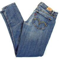 Levi's Womens 524 Too Superlow Skinny Medium Wash Blue Jeans Size 7 28x29