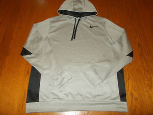 NIKE THERMA-FIT GRAY HOODED SWEATSHIRT MENS XL EXCELLENT CONDITION