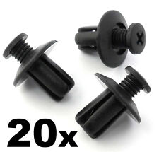 20x Mazda Plastic Trim Clips Scrivets- For wing & wheel arch linings mudguards