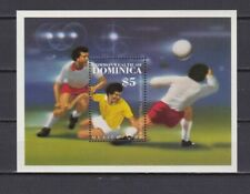 S5999) Dominica 1986 MNH World Cup Football '86 - S/S