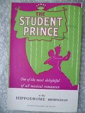 1962 Hippodrome Theatre Programme- The Student Prince-John Hanson,Pamela Penfold