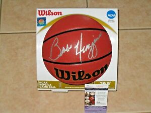 Coach Bobby Huggins signed West Virginia Mountaineers Wilson Basketball JSA