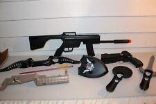 Lot Nintendo Wii Accessories Gun Pistol Extenders Bow Shield Sword