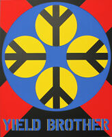 ROBERT INDIANA - Yield Brother. Unsignierter Farb-Siebdruck. Domberger Stuttgart