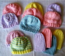 KNITTING PATTERN FOR PREEMIE HATS ~ 5 DESIGNS IN ONE PATTERN(HS8)