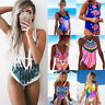 Brazilian Swimwear Monokini Swimsuit Bikini Padded Bathing Suit Floral Beachwear