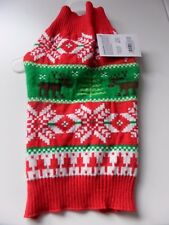 Holiday Apparel Rouge, Vert & Blanc Renne Chien Noël Pull Taille S-BNWT