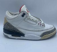 Nike Air Jordan 3 III Retro White Cement Sz 9.5 Lot Black Katrina Fire Red Sport