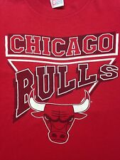 Vintage Chicago Bulls Red X-Large T-Shirt NBA basketball Jordan
