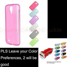 ONE Samsung Galaxy S4 Matt Colored Case + Sreen Protector +USB Car Charger