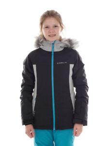 O'Neill Ski Jacket Winter Snowboard Jacket Felice Grey Faux Fur Logo