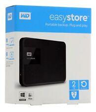 Western Digital WD easystore 2TB External USB 3.0 Portable Hard Drive Black New