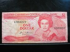 EAST CARIBBEAN $1 DOLLAR 1988 BRITISH 26# Currency Bank Money Banknote