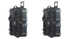 0feb9803ba2d 33-INCH Travel Rolling Wheel Duffel Duffle Bag by Amaro - Black - TWO BAGS