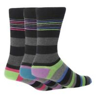 3 Pairs of Mens Giovanni Cassini VIENNA Striped Everyday Socks, UK Size 6-11