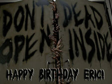 Walking Dead Door Edible Photo CAKE Image ICING Topper FREE SHIPPING
