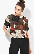 2,695 TOPSHOP Patchwork Piped Top US 2 UK 6 new with tags