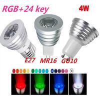 4W 5W E27 GU10 MR16 RGB LED Spot Light Colorful Xmas Bulb Lamp+IR Remote Control