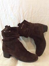 Naturalizer Dark Brown Mid Calf Suede Boots Size 6